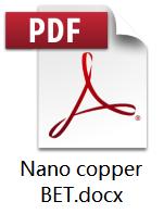 Nano Copper BET data